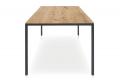 Tavolo moderno fisso per 10 posti a sedere con piano in legno di abete con nodi