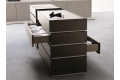 Modern sectional septet with 4 drawers