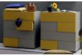 Settimini design colorati 6 cassetti per camera da letto
