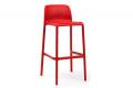 Sgabello di colore rosso modello Faro