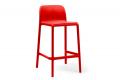 Sgabello di colore rosso modello Faro mini