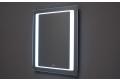 Specchio bagno con orologio digitale retroilluminato