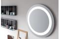 Specchio rotondo con luce al neon integrata per arredo bagno