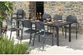 Tavolo per arredo giardino in resina allungabile