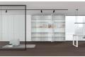 Armadio ufficio per archivio con ante in vetro trasparente