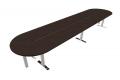Tavolo grande per meeting oltre 5 metri in malaminico wengè con piedini cromati