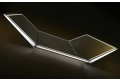 Specchio design retroilluminato a led con ante girevoli a 270 °