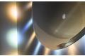 Specchio design rotondo con 20 lampade led a ricreare raggi del sole