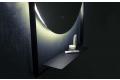 Specchio bagno con mensola in metallo e luce led