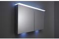 Specchio contenitore 2 ante con luci led ambientali