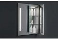 Specchio moderno contenitore semincasso a due ante con luci led