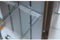Specchio contenitore bagno con ripiani interni in vetro