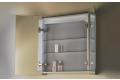 Specchio contenitore con anta specchio interno ed esterno e ripiani regolabili
