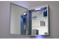 Specchio contenitore bagno con luci led esterne e interne
