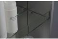 Specchio verticale girevole di design con ripiani in vetro