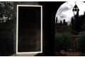 Specchio grande verticale da parete con luce led e antiappannamento