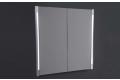 Specchio di design contenitore a due ante con luce led