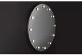 Specchio design rotondo da trucco con lampade led