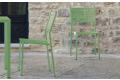 Sedia moderna da esterno in ferro zincato colorato
