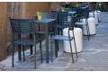 Sedia di design in metallo da esterno per arredo bar