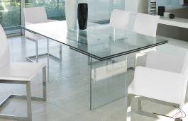 Tavolino In Cristallo Trasparente.Tavolo Miami