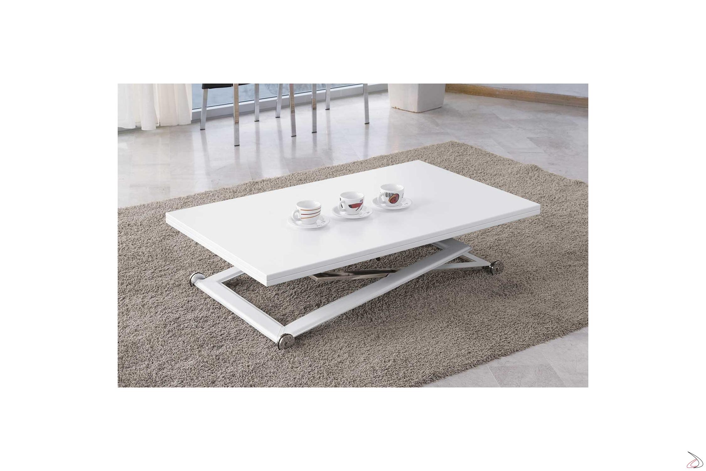 Soggiorno Moderno Con Tavolo Da Pranzo.Tavolino Trasformabile In Tavolo Da Pranzo Punto Toparredi