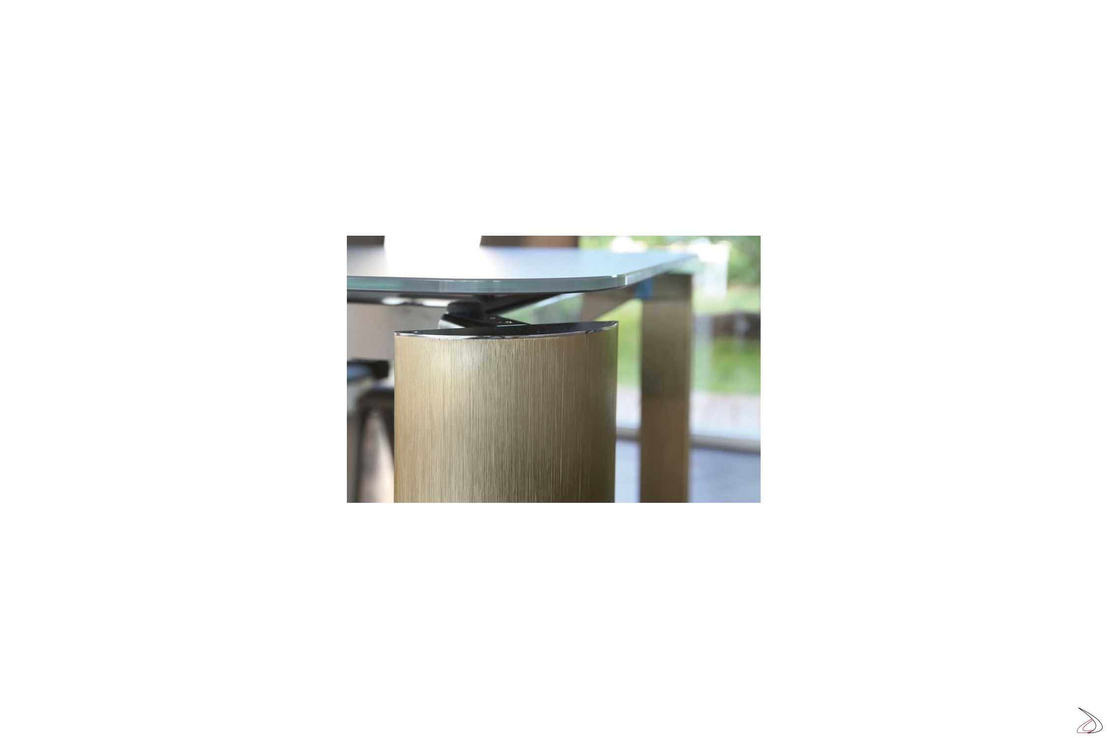 Gambe In Alluminio Per Tavoli.Arthur Design Extendable Crystal Table Toparredi Arredo Design
