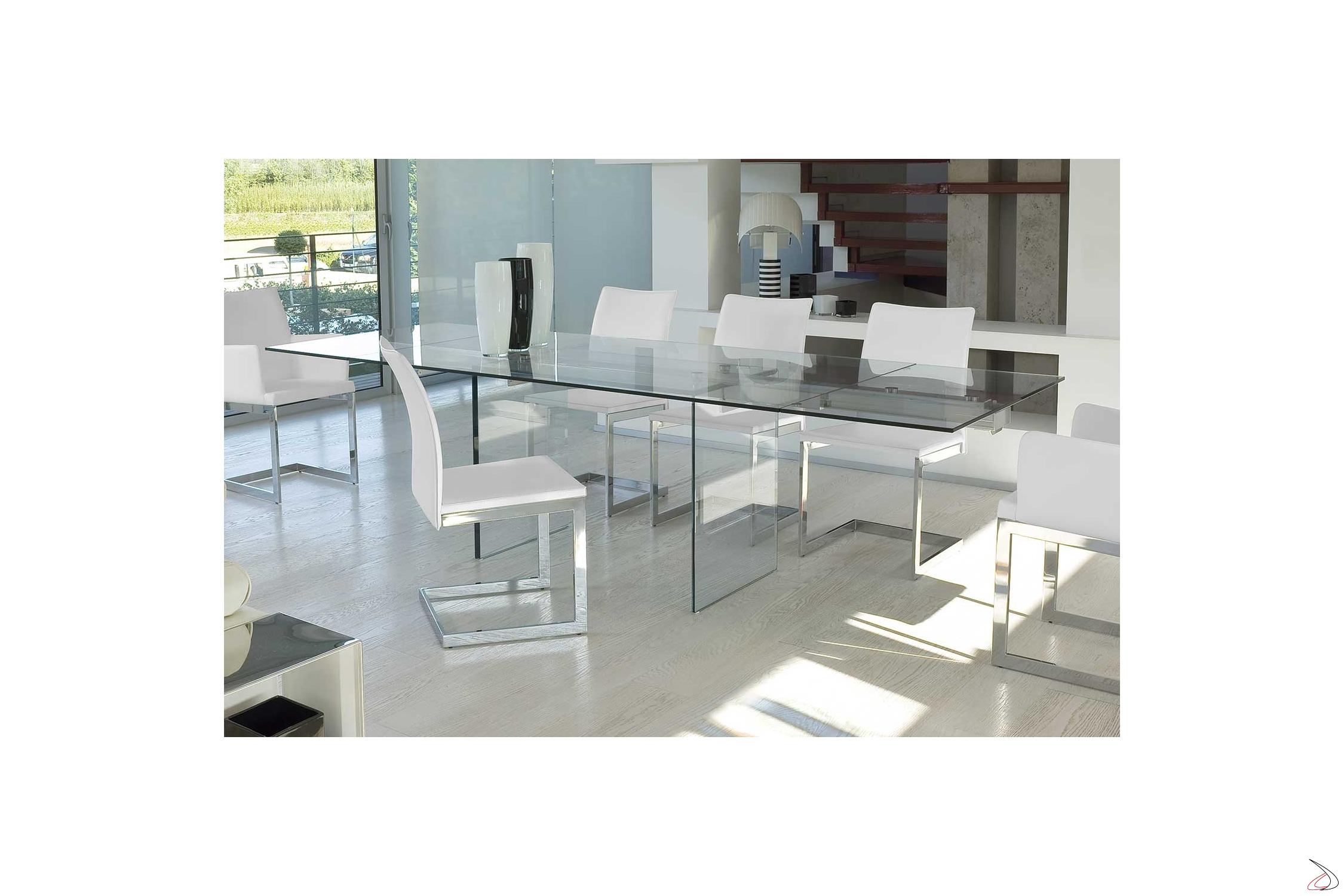 Tavoli Allungabili Cristallo Design.Tavolo Miami