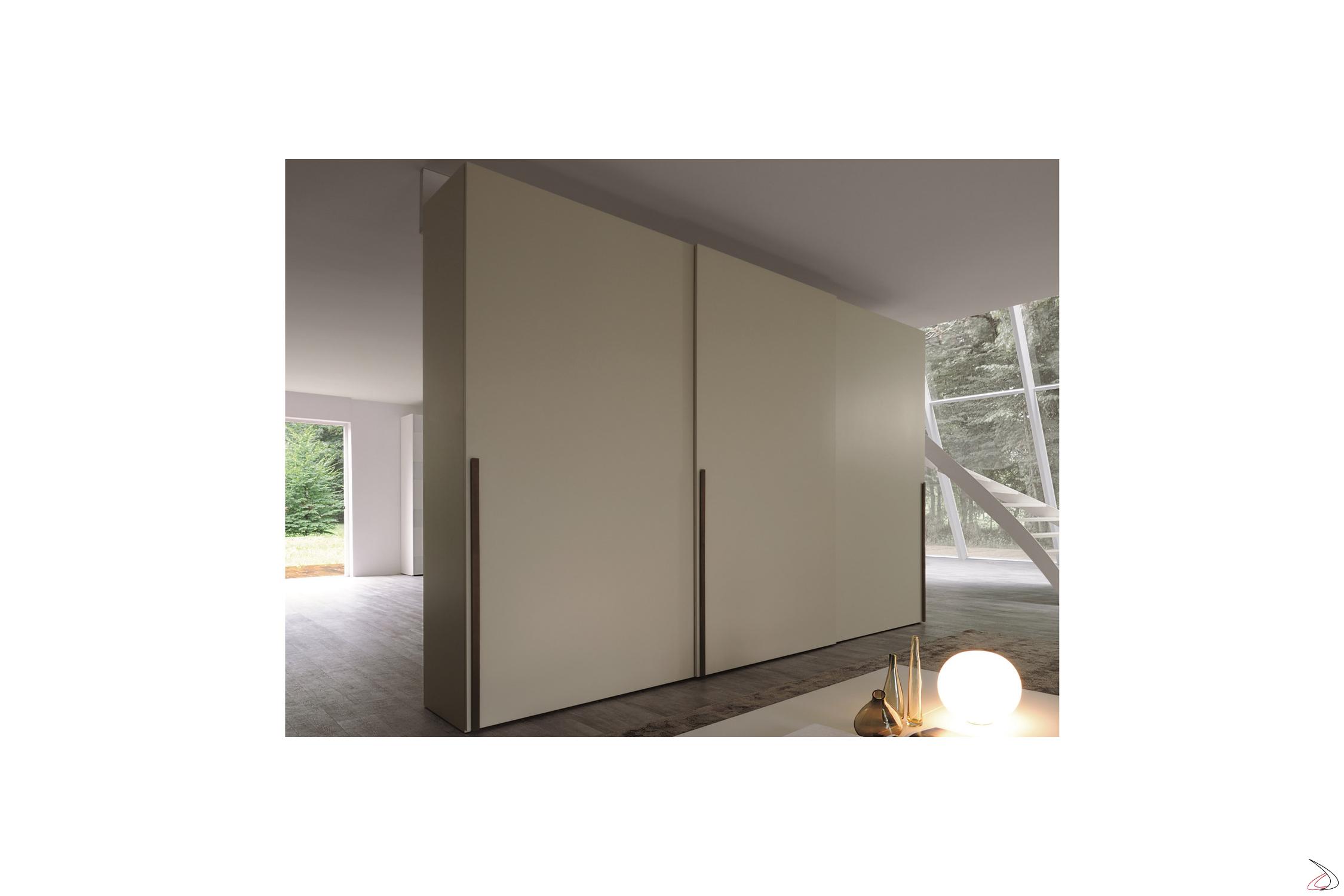 Porta Scorrevole 3 Ante Sovrapposte.Armadio Ante Scorrevoli Clean Toparredi Arredo Design Online