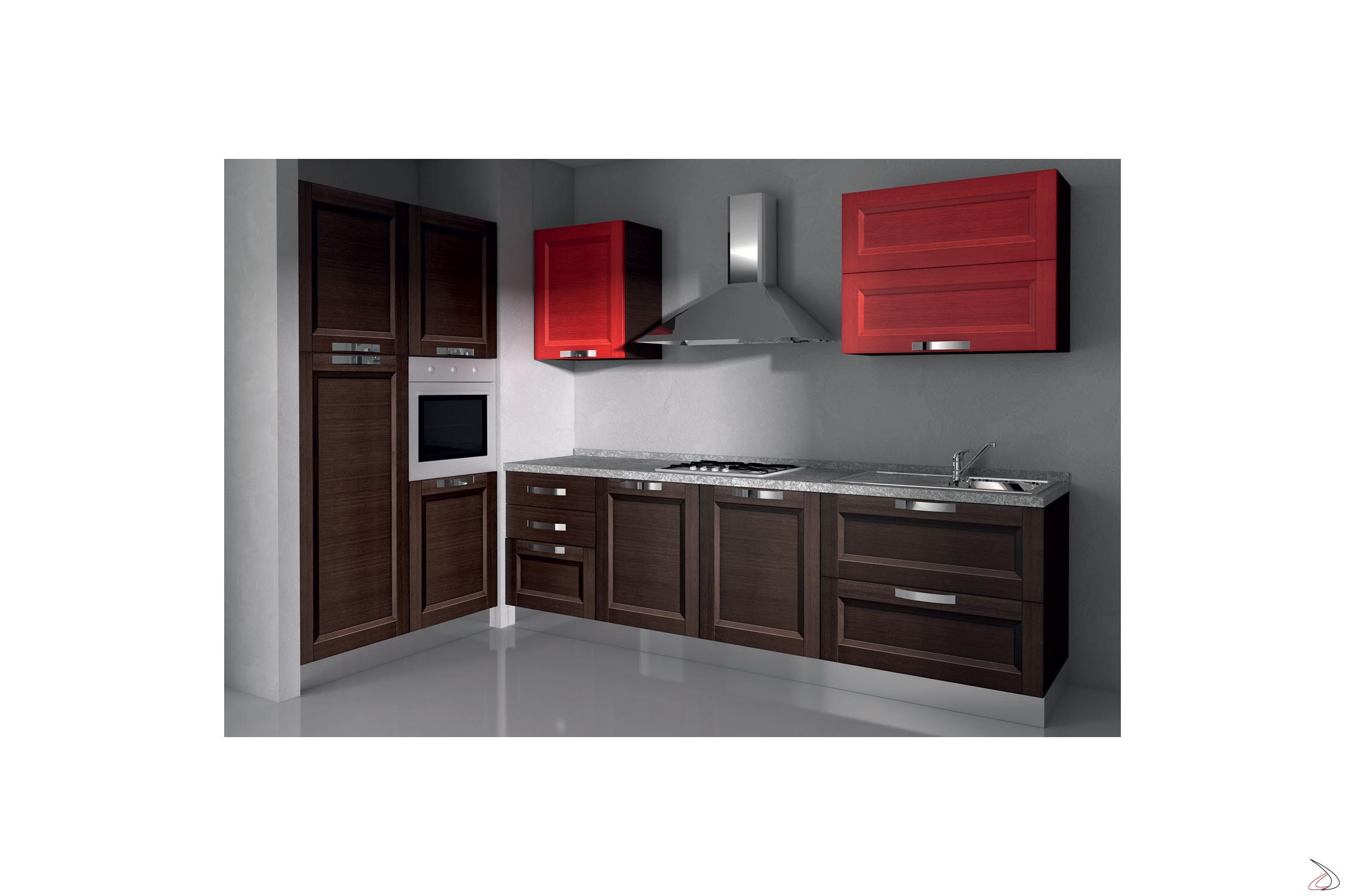 Cucina design angolare in legno grace toparredi arredo for Arredo cucina design