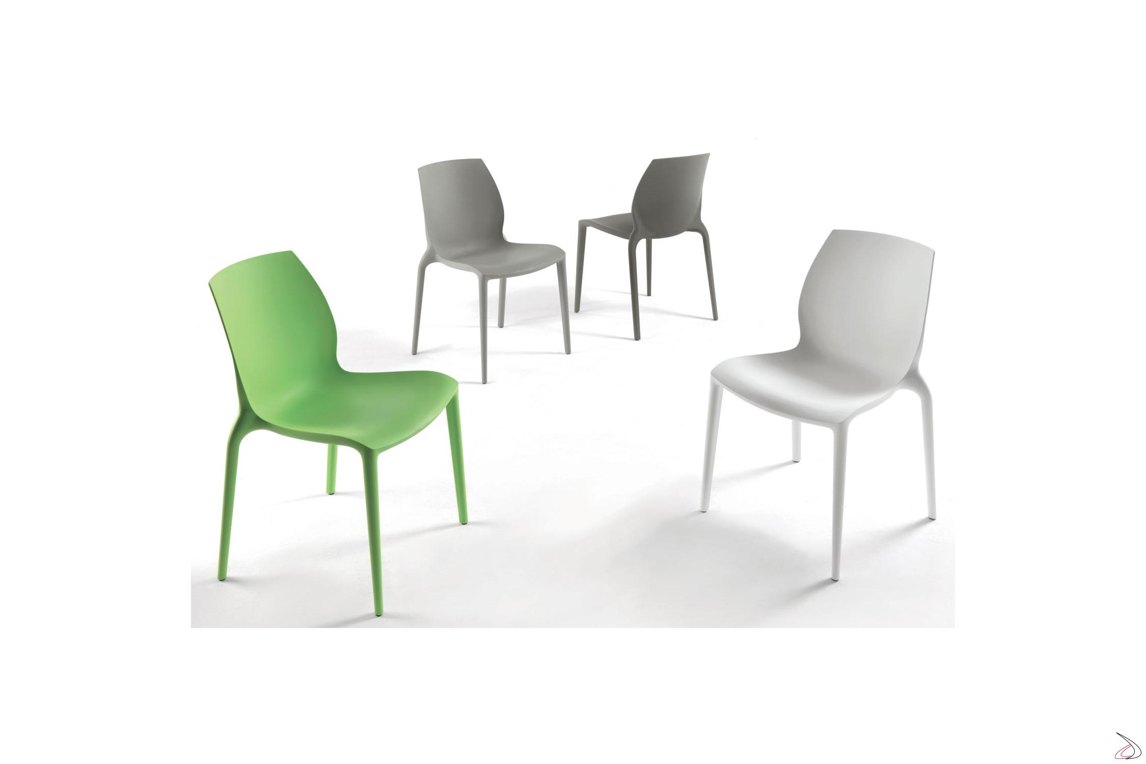 Sedie Da Esterno Design.Hidra Modern Stackable Chair By Bontempi Toparredi Arredo
