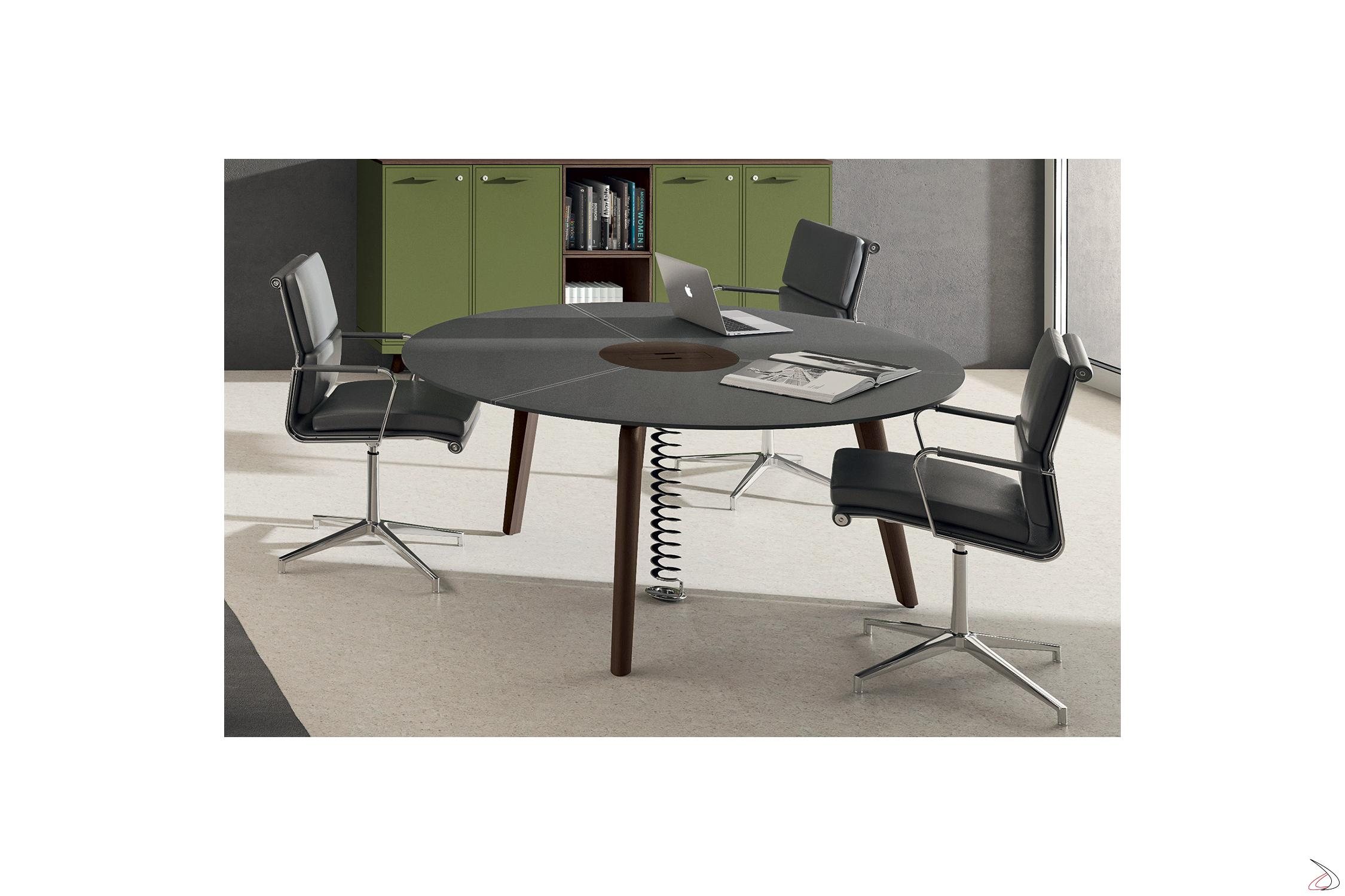 Tavolo ufficio rotondo per riunioni Canas | TopArredi