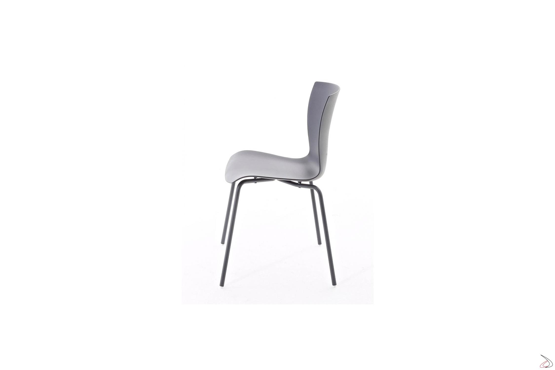Sedie Da Cucina In Acciaio.Rap Chair With Light Design And Monochrome Finish Toparredi
