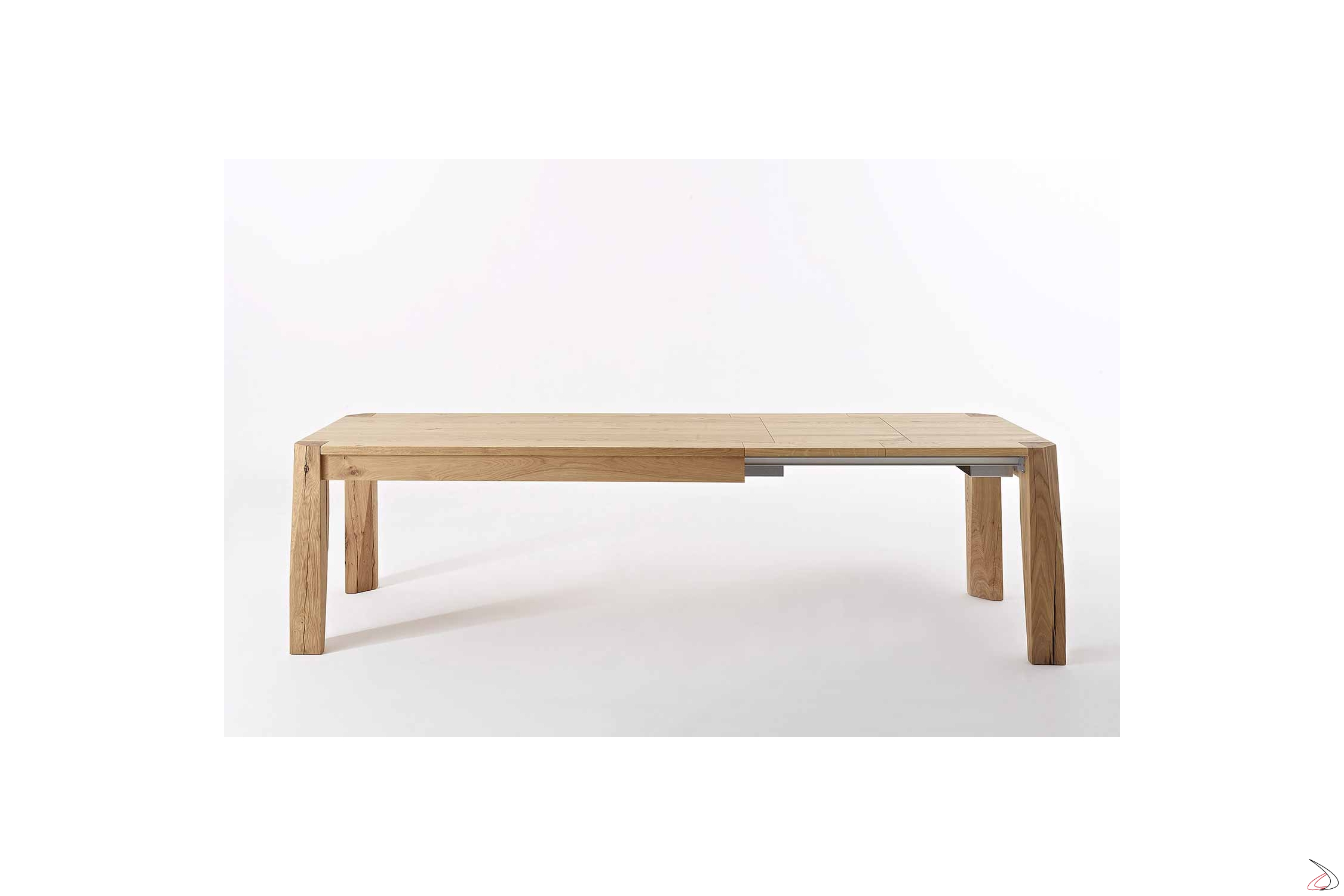 Tavolo Allungabile Fino A 6 Metri.Extensible Slash Table Made Of Knotted Oak Toparredi Arredo