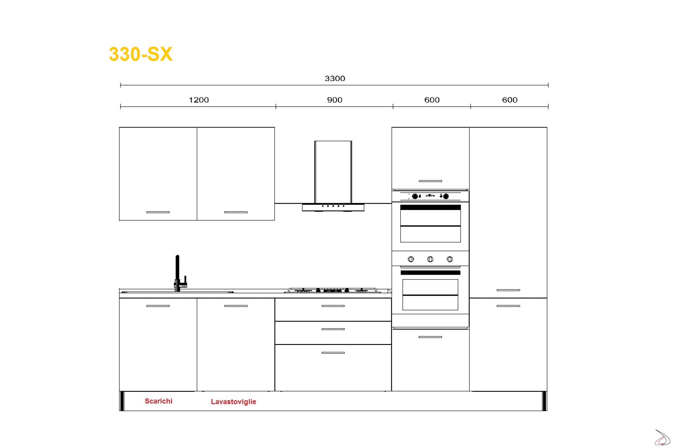 Cucina Componibile Moderna Lineare Mithos Vendita Online Toparredi