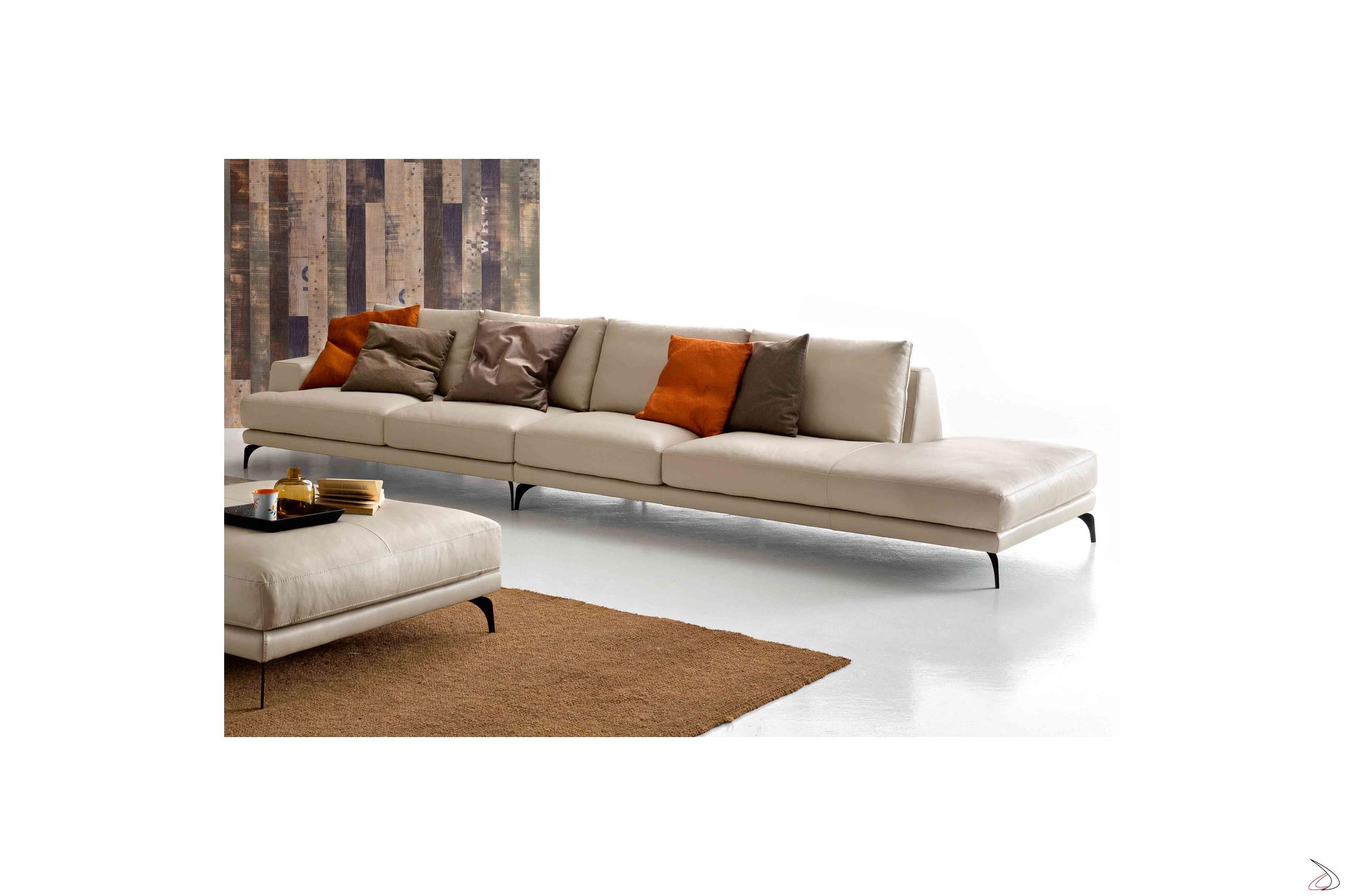 Retof modern living room sofa toparredi arredo design for Divano con pouf