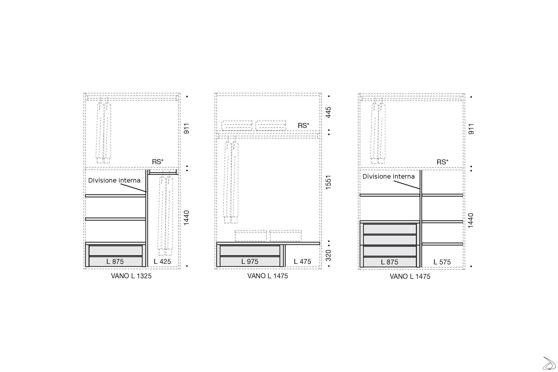 Dimensioni Cassettiere Interne Per Armadio.Armadio Scorrevole Su Misura Golf Toparredi Arredo Design Online