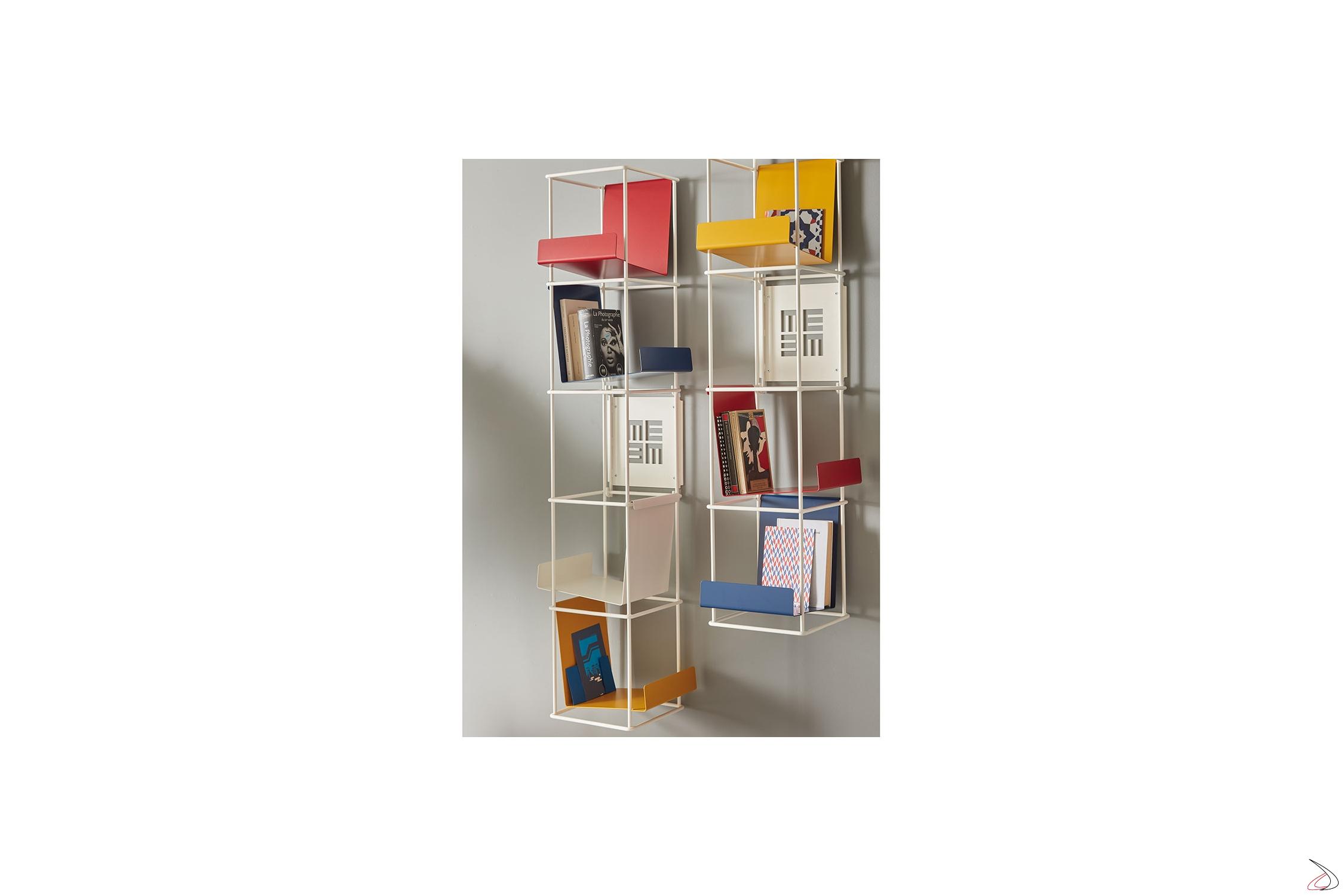 Libreria Verticale In Metallo.Libreria Verticale In Metallo Bianco Libro Verticale Toparredi