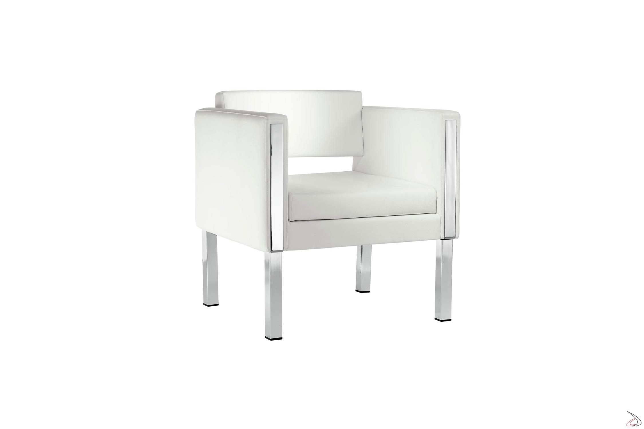 Poltrone Moderne In Pelle.Ciad Modern Waiting Armchair Toparredi Arredo Design Online