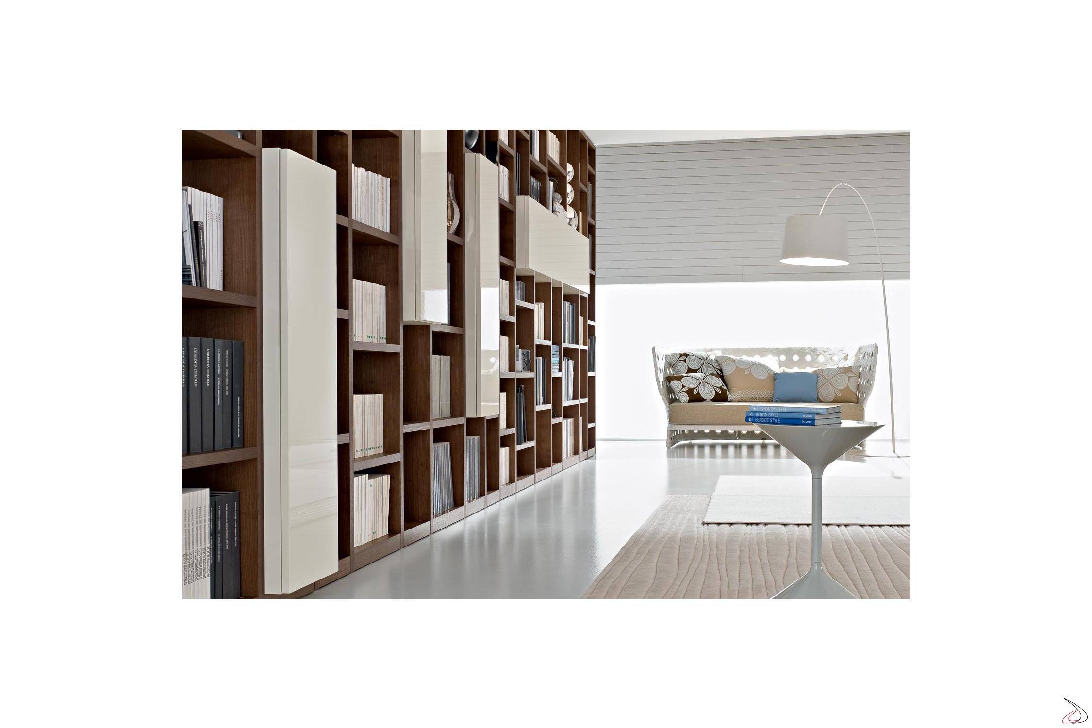 Modern Booki Wooden Bookcase Toparredi Arredo Design Online