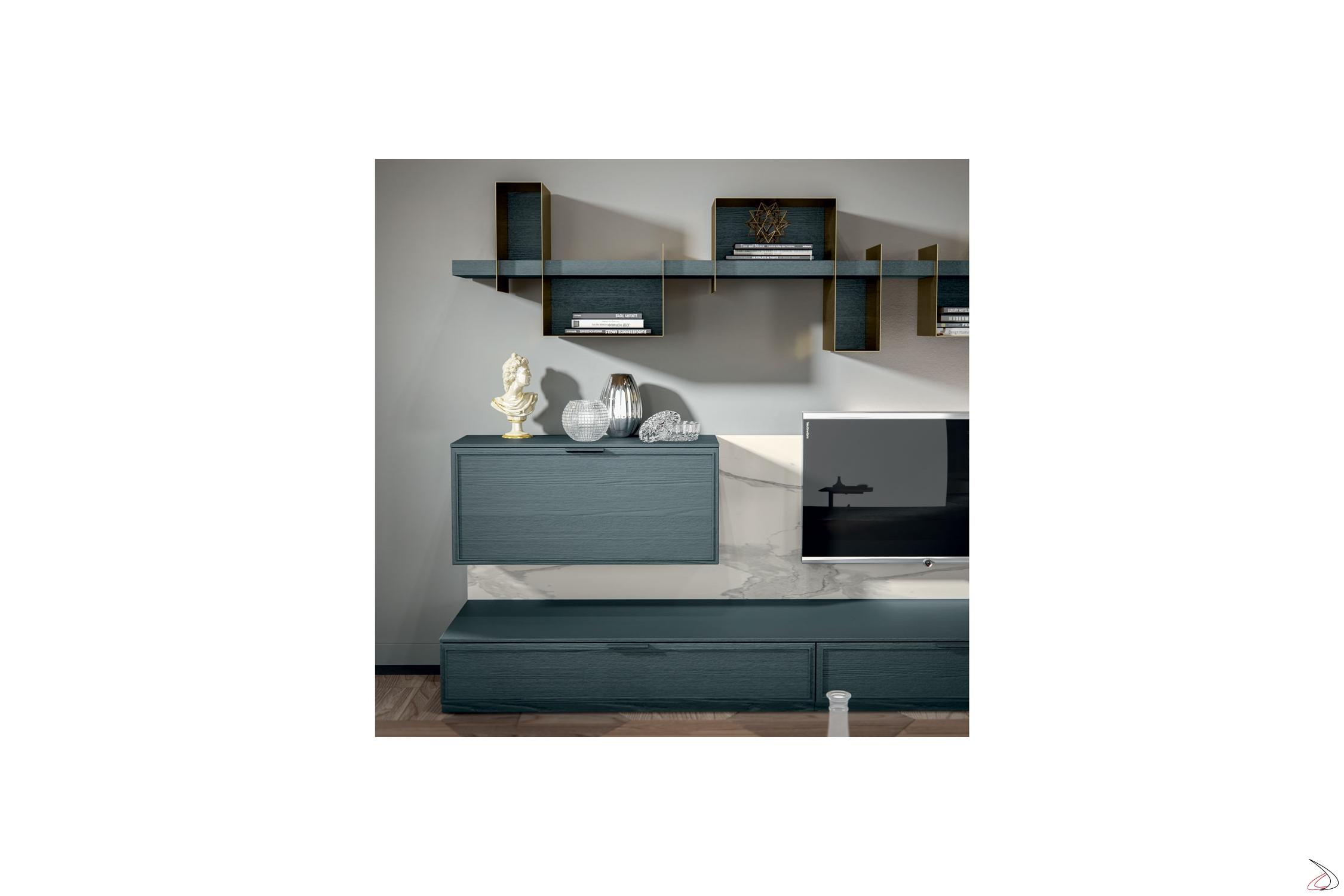 Mobile soggiorno urban chic Zinco | TopArredi