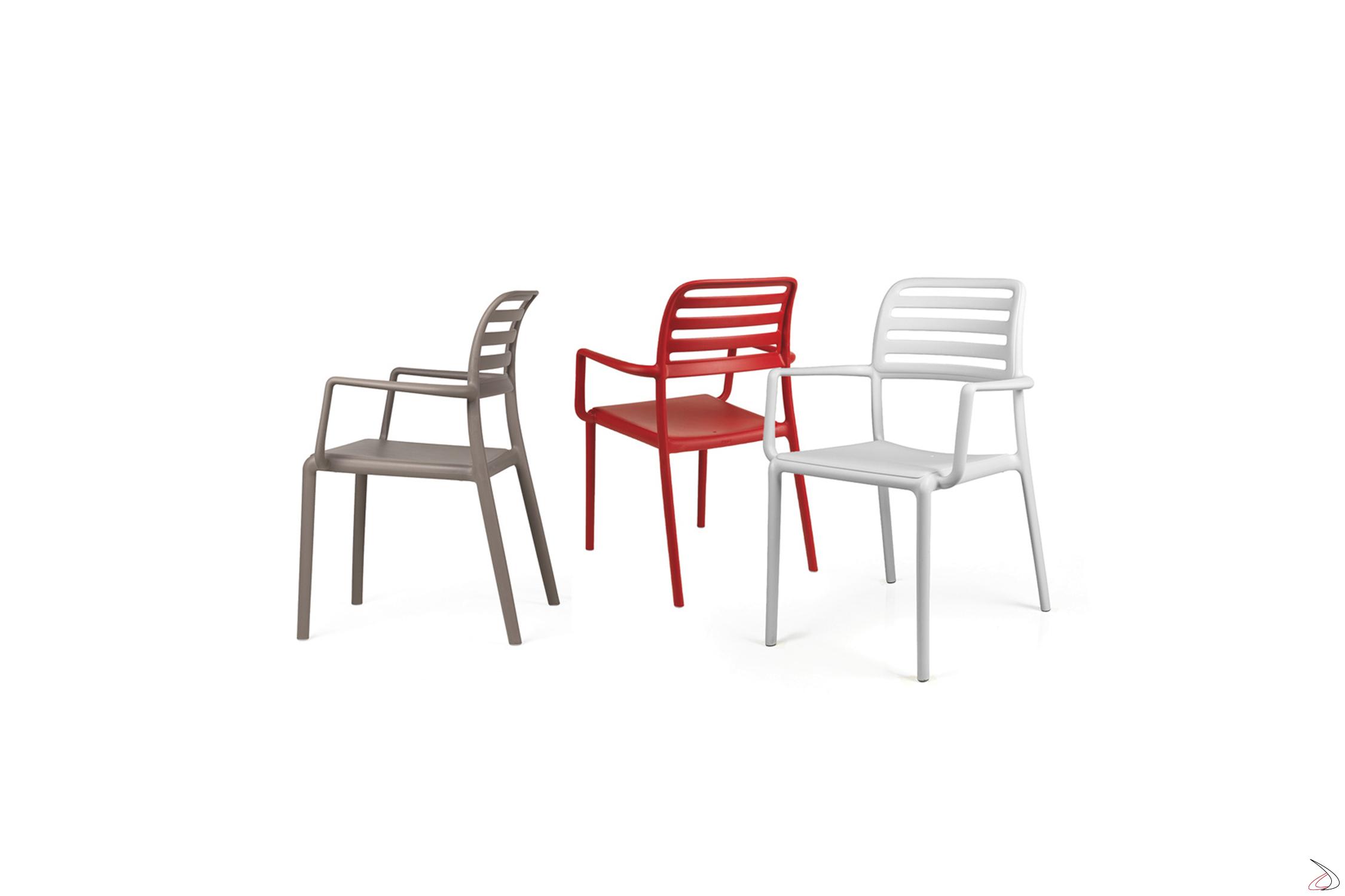 Sedie Da Esterno Colorate.Costa Plastic Chair Toparredi Arredo Design Online