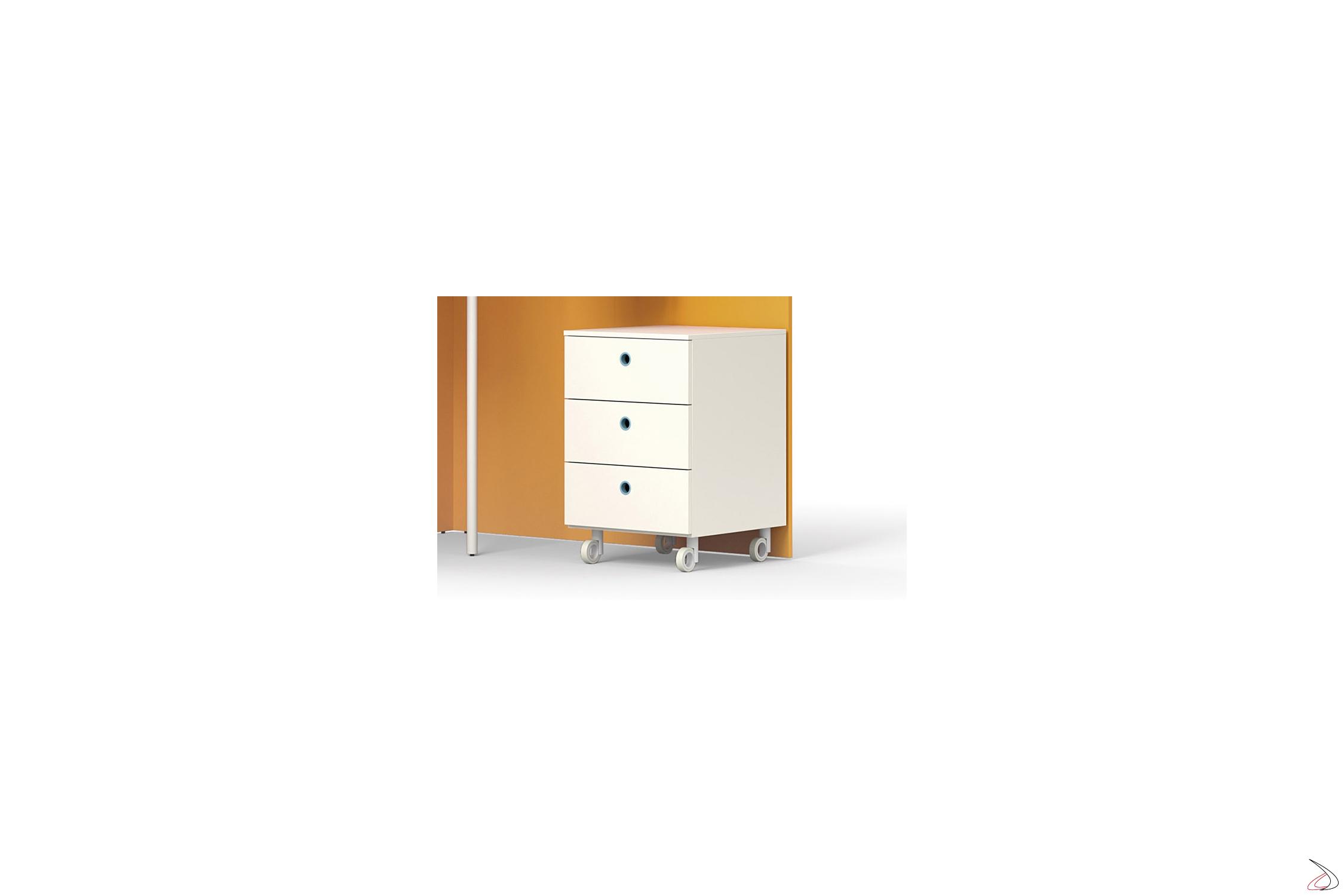 Cassettiere Con Ruote Per Camerette.Cassettiera Su Ruote Moderna Kiddy Toparredi Arredo Design Online