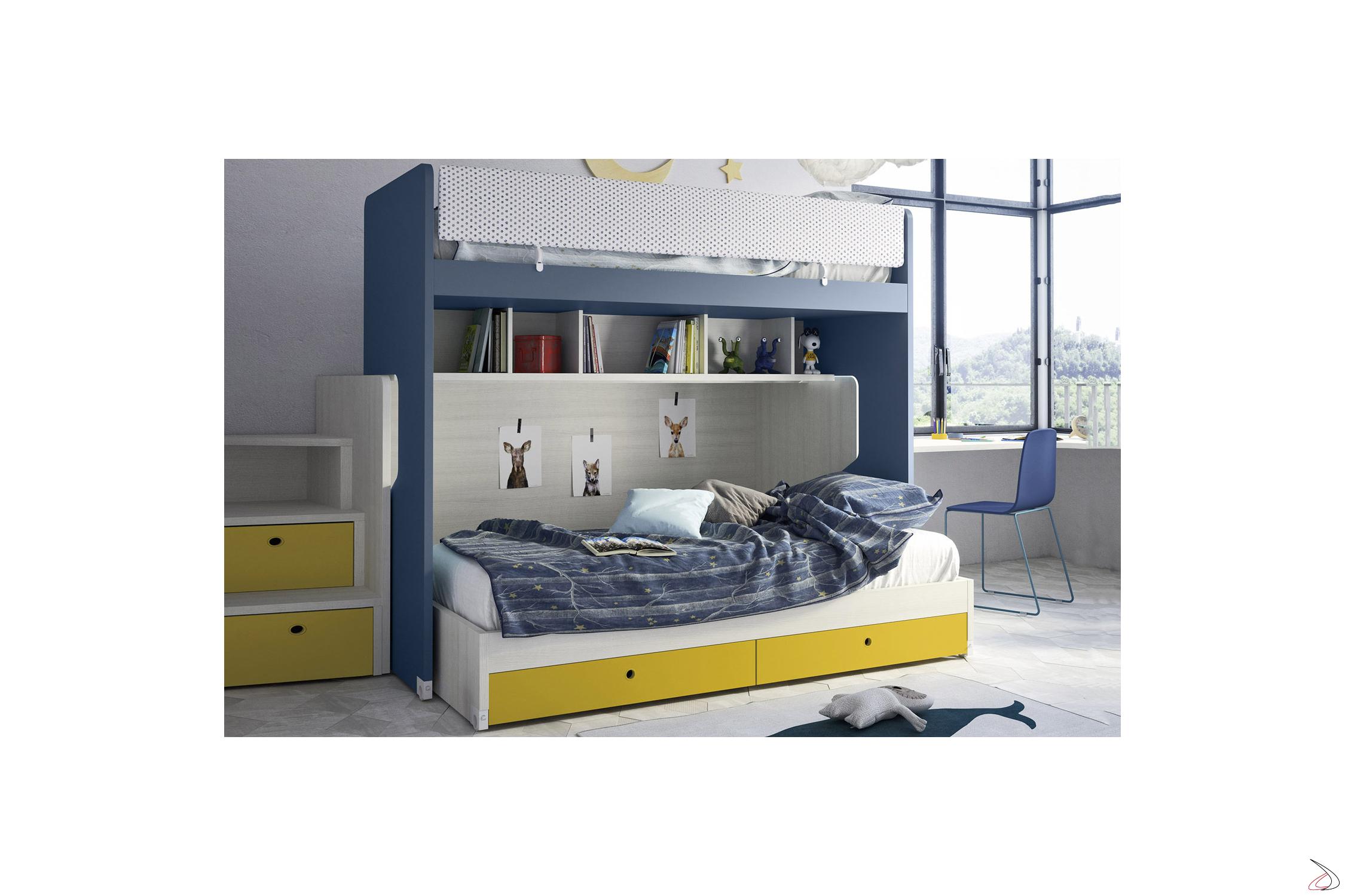 Letto A Castello Design.Slot Sliding Bunk Bed Toparredi Arredo Design Online