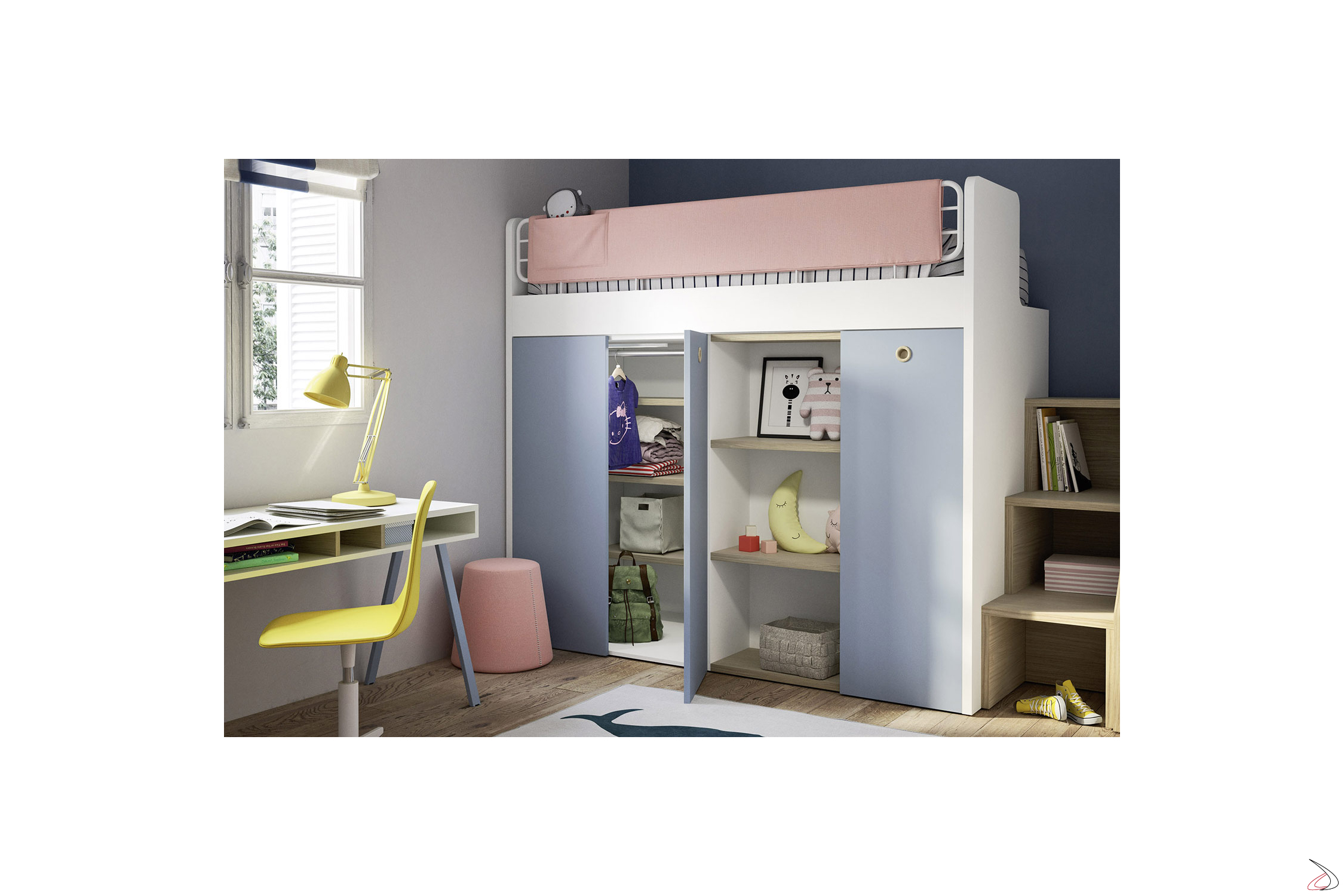 Letto A Castello Armadio.Bunk Bed With Ergo Wardrobe Toparredi Arredo Design Online
