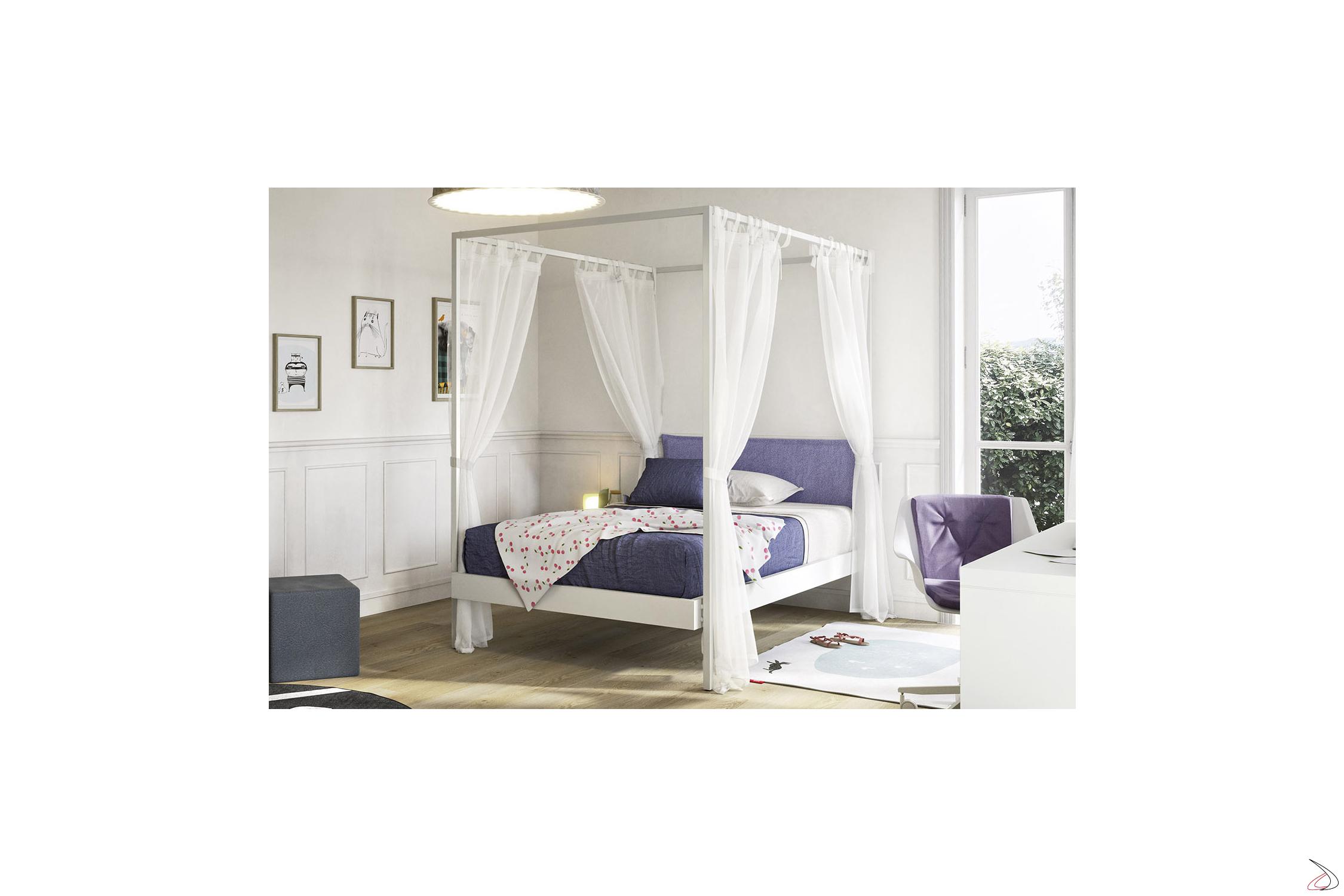 Letto A Baldacchino Una Piazza.Kap Modern Canopy Bed Toparredi Arredo Design Online