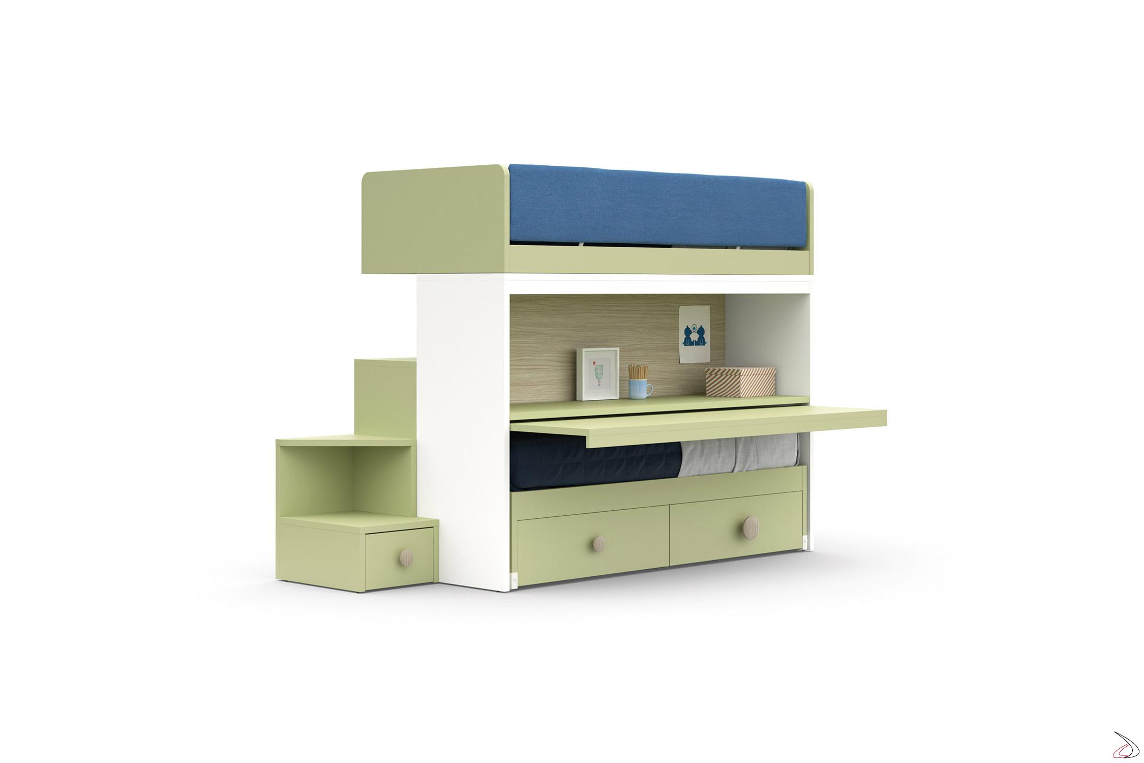 Letto A Castello Estraibile.Bunk Bed With Skid Second Bed Toparredi Arredo Design Online