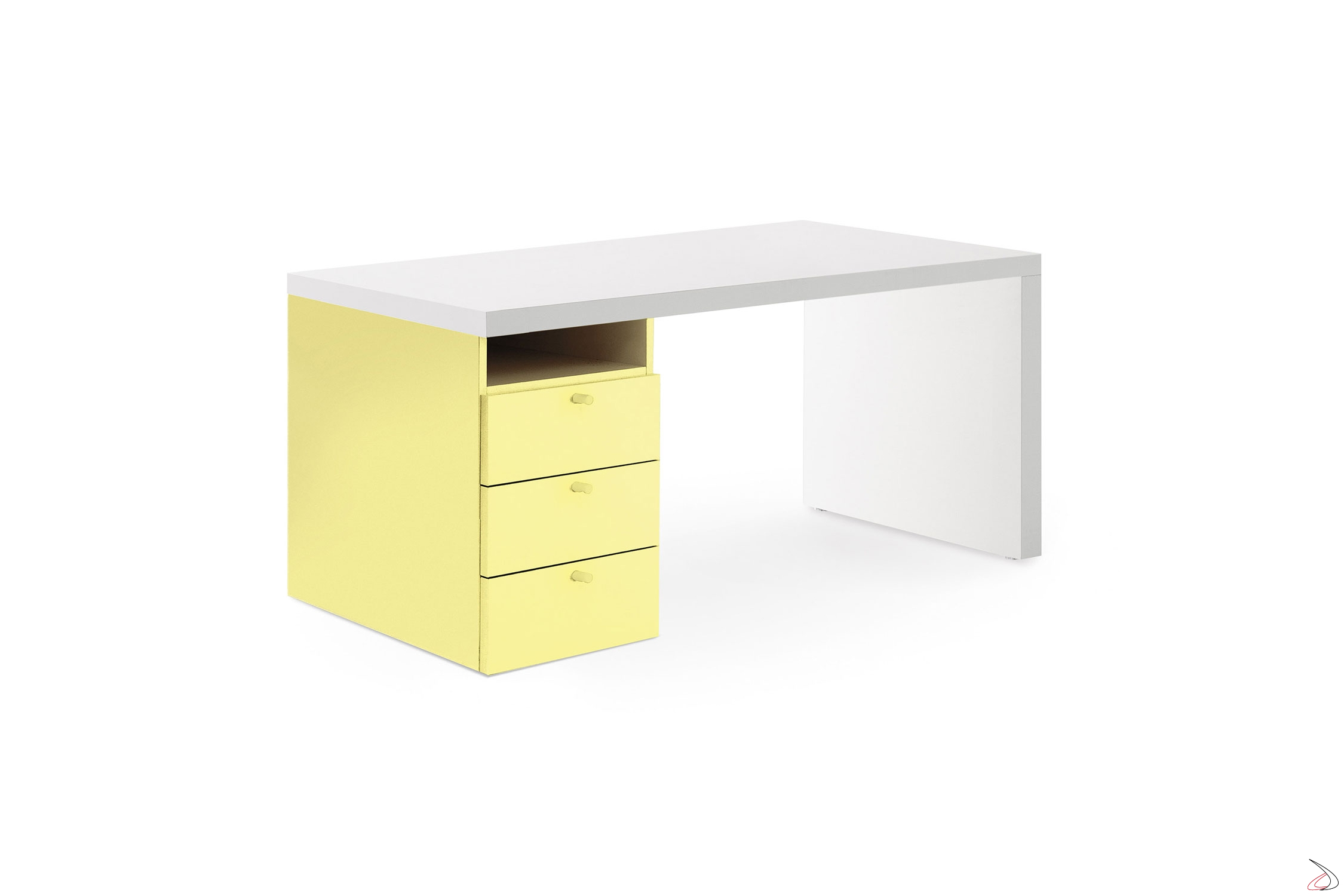 Cassettiere Per Scrivania In Legno.Kids Desk With Ciop Chest Of Drawers Toparredi Arredo Design