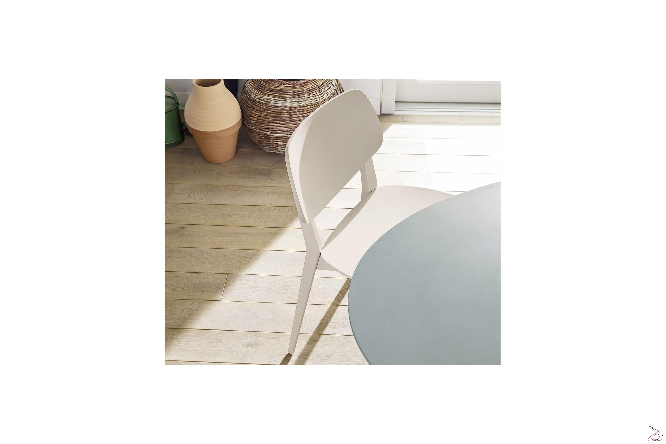 Sedia legno colorata da cucina doll toparredi arredo for Sedia bianca moderna