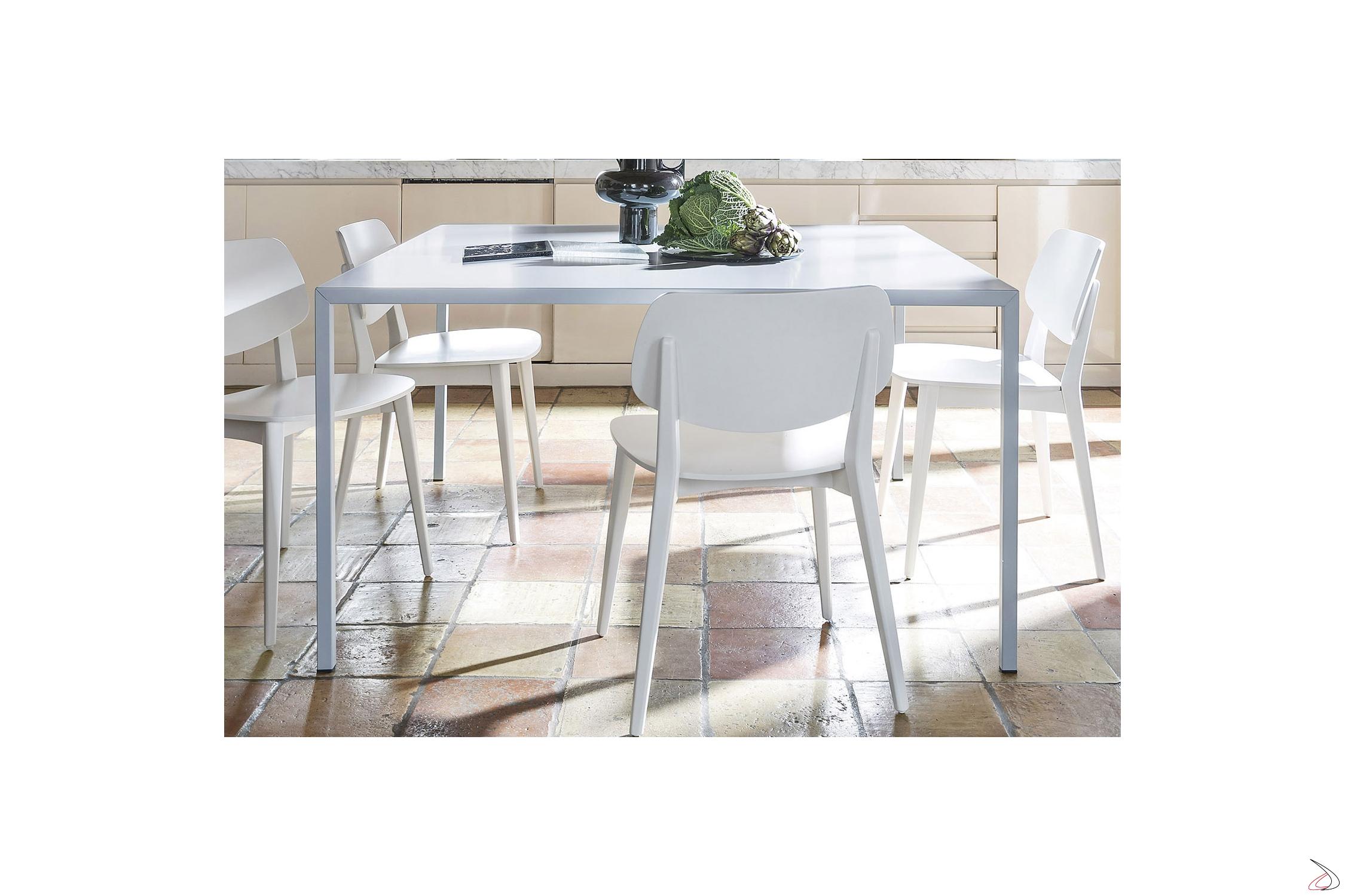 Tavoli Quadrati Di Design.Tavolo Cucina Quadrato Di Design Filo Toparredi Arredo Design